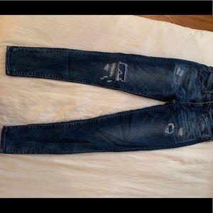 American eagle barley worn ripped jeans